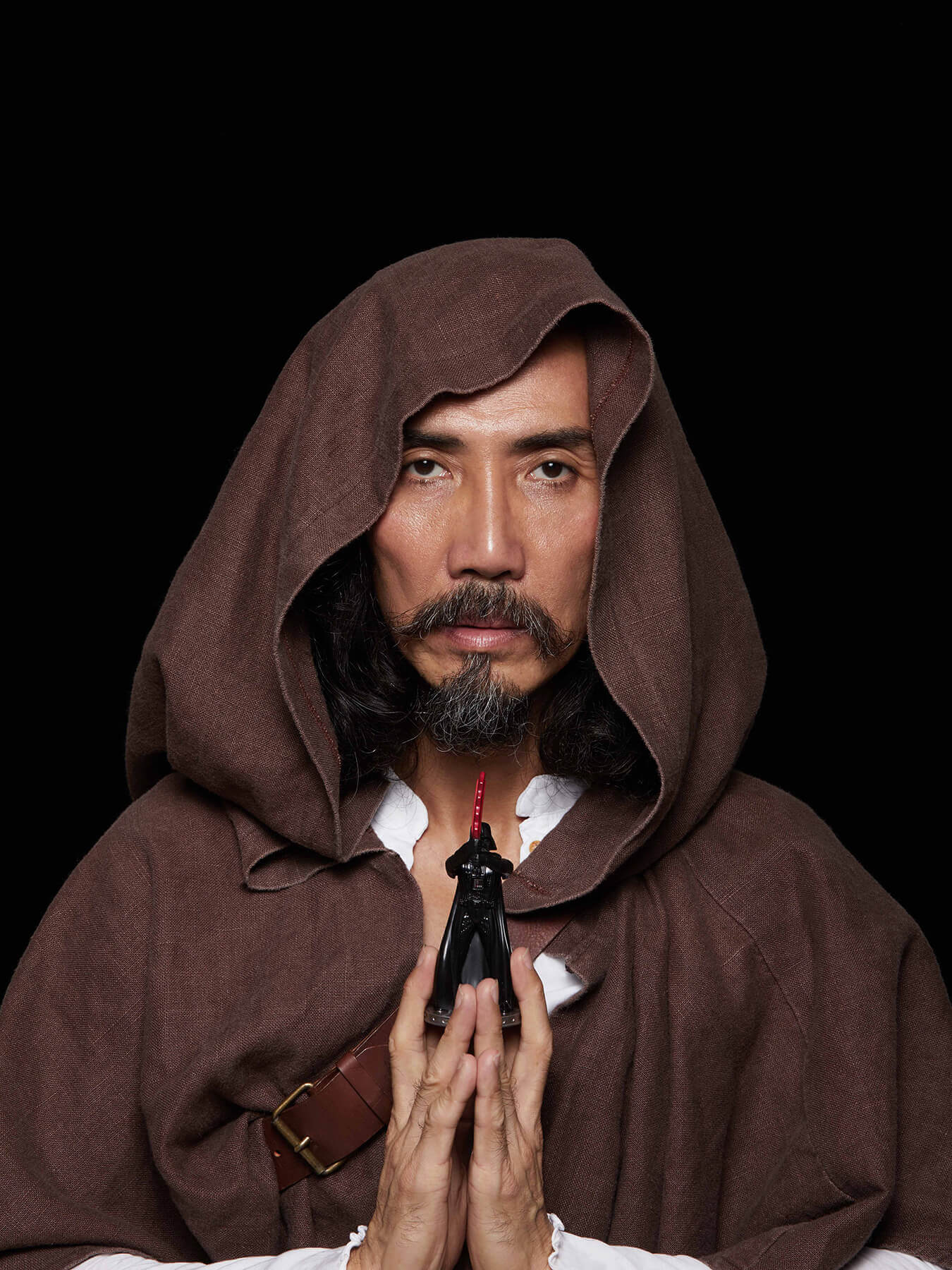 14 Dec 2017 Derong is photographed as Star Wars character Obi-Wan Kenobi