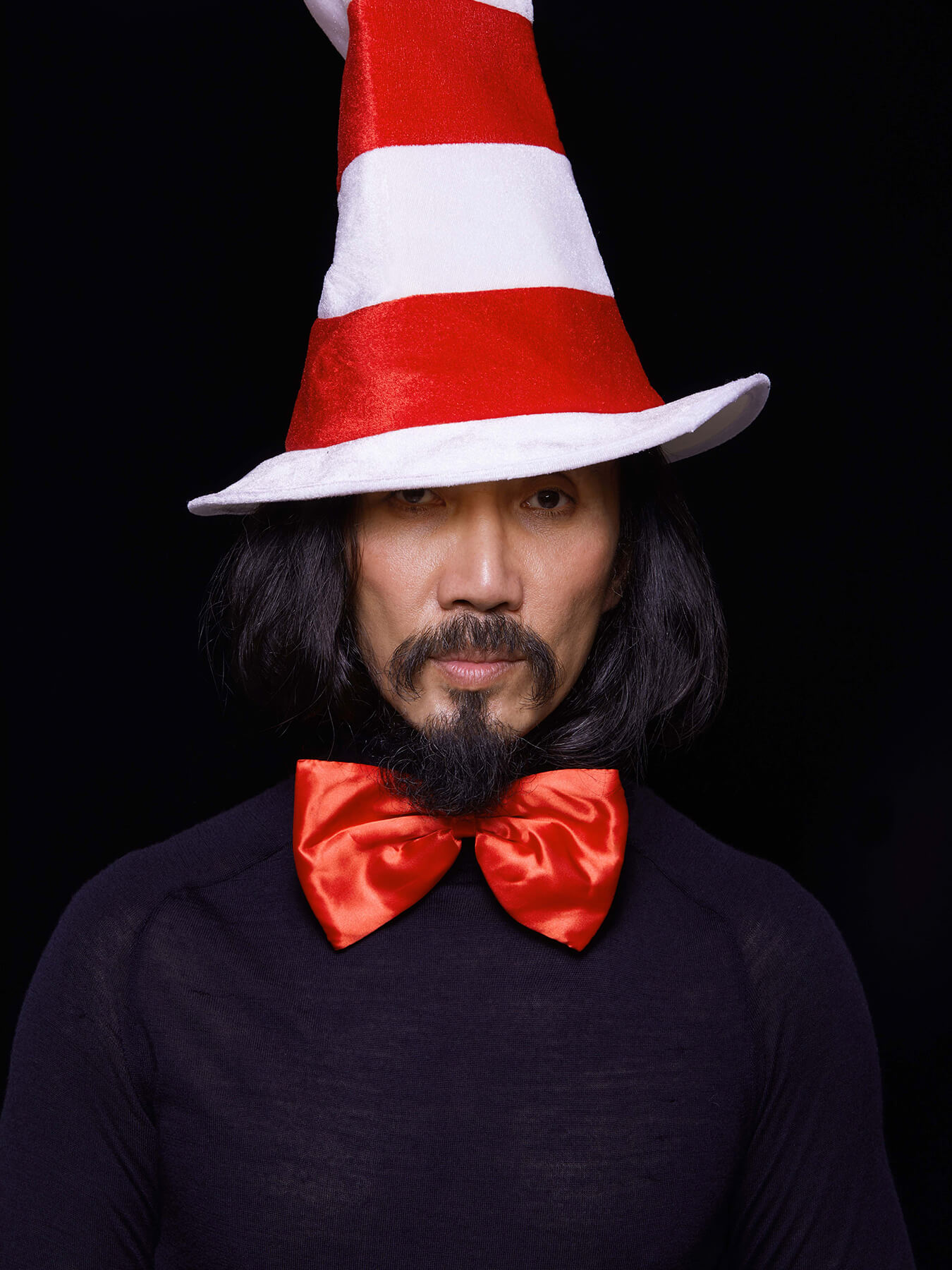 1 March 2018 Derong is styled as Dr Seuss' Cat in The Hat