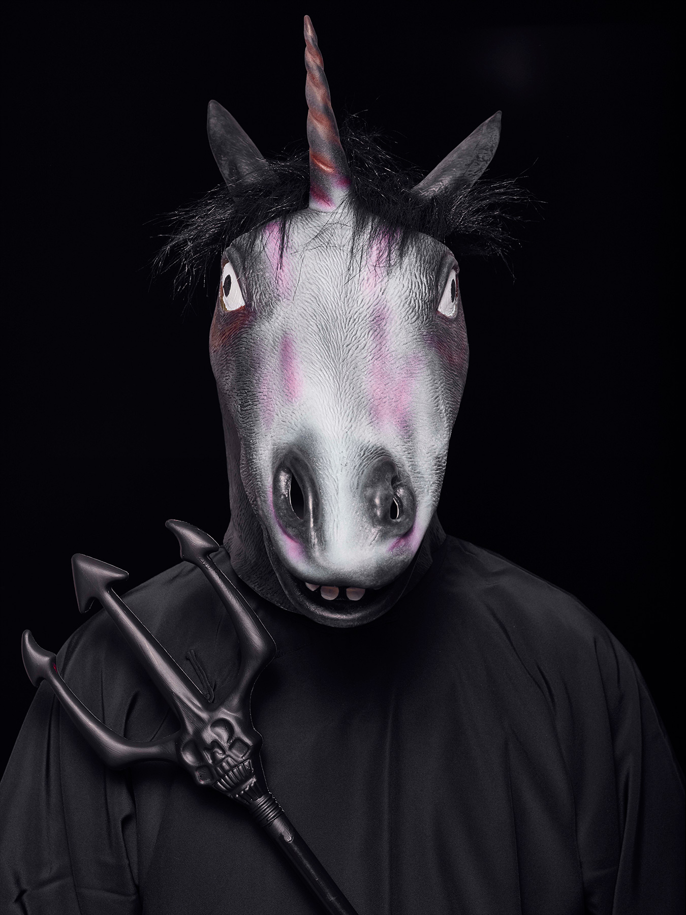 "24 Aug 2017: Derong is photographed as a Chinese mythical ""hell"" character Horse Face"