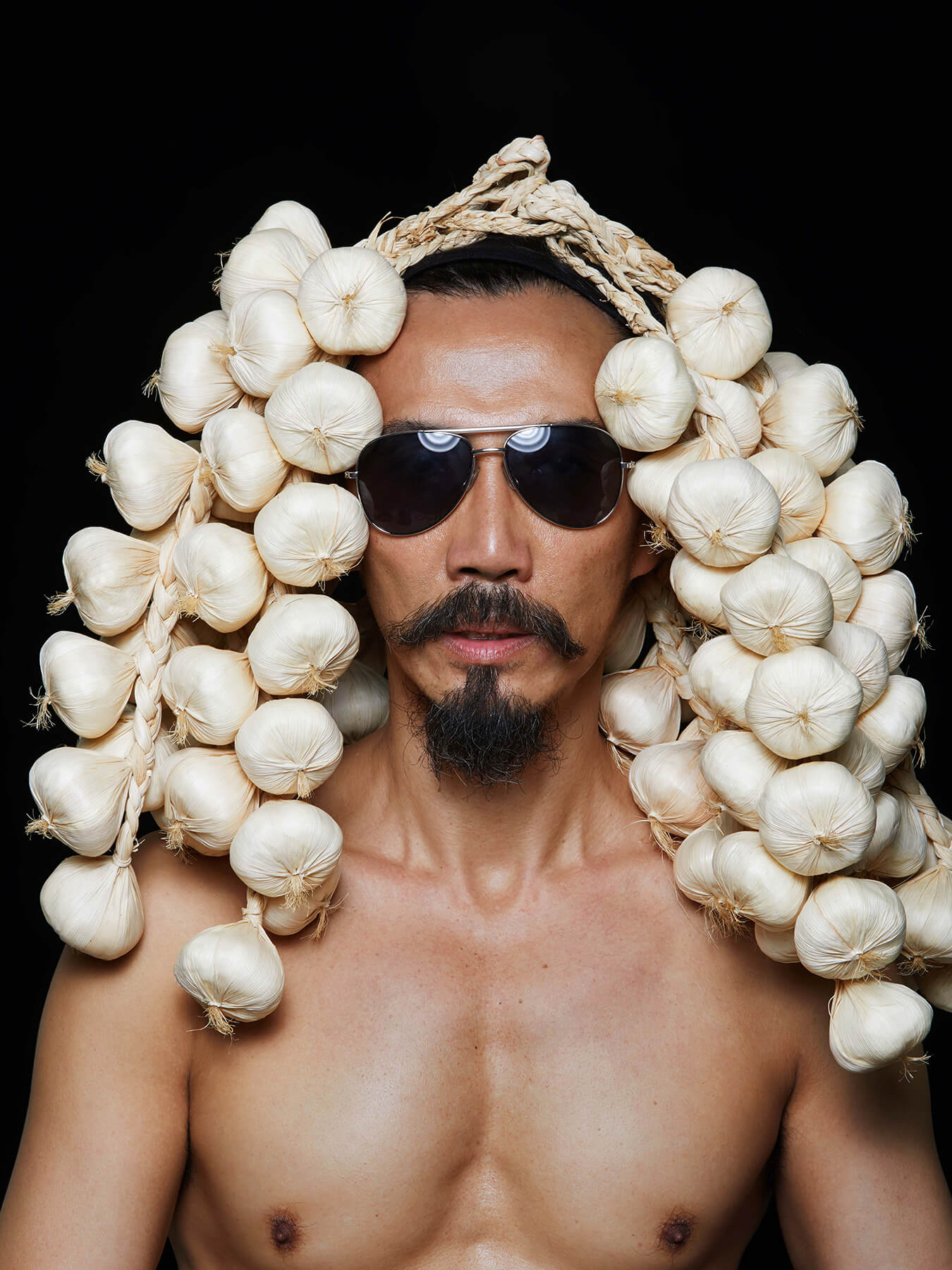 13 Oct 2017 FRIDAY 13TH: Derong is wearing strings of garlic over his head
