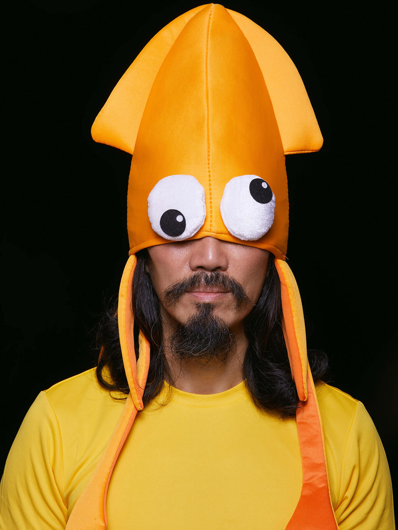 Derong is in a squid costume